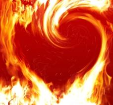 心形火焰图片