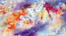 抽象艺术花卉图图片