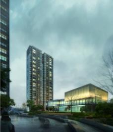 房地产夜景广告图片
