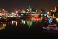秦淮河夜景图片