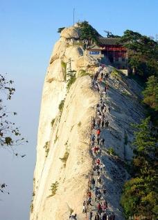 华山 西峰青龙背图片