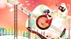 音乐童话图片