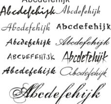 11种迷你英文字体