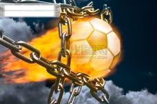 火焰足球图片素材