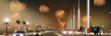 城市夜景效果图图片