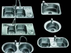 法恩莎六款高清晰不锈钢洗手盆(已抠好)图片