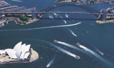 澳洲悉尼海港鳥瞰图片
