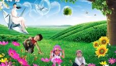绿茶广告图片