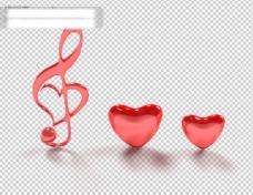 水晶音符与红心