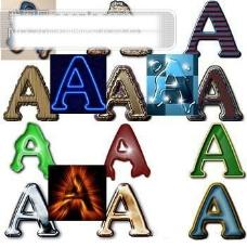 文字动作特效矢量图片(ATN格式) 14个字体效果动作 PS插件 PS动作 文字动作 文字特效 源文件库 ATN