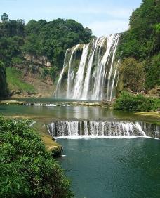 黄果树大瀑布竖幅图片