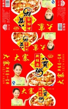 大寨新桂圆八宝粥箱图片