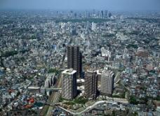 城市俯景图片