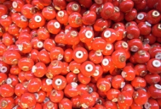 红色珠子图片