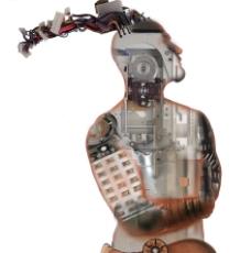 機器人 抽象科技創意人物合成圖片