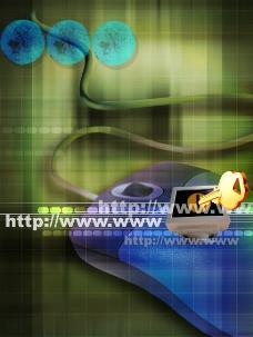 科技 背景 鼠标图片