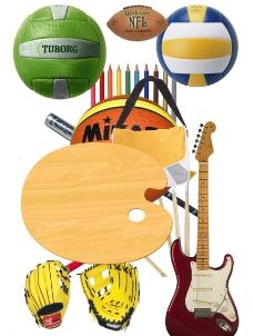 篮球画板吉他图片