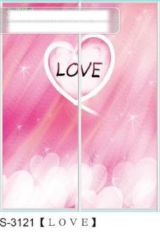 LOVE玻璃移门图片大全_编号S3121