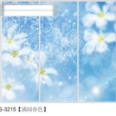 满园春色玻璃移门图片大全_编号S3215