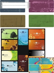 古典时尚背景名片模板矢量图 名片模板 其他矢量 时尚背景 花纹 矢量素材 矢量图库 CDR格式