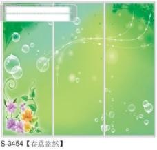 春意盎然玻璃移门图片大全_编号S3454