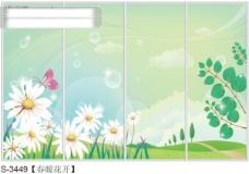 春暖花开玻璃移门图片大全_编号S3449