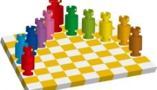 西洋棋子與棋盤2图片