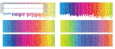 彩虹色彩圆点背景矢量素材