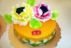 花之蛋糕图片