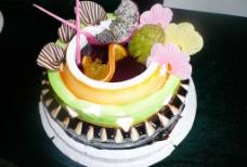 美味果汁蛋糕图片
