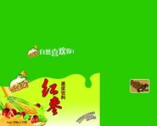 饮料 包装 金玉米 背景素材图片