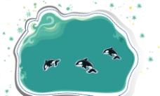 跳跃的鲸鱼图片