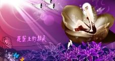 花朵里的精灵图片
