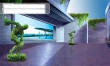 创意地产海报设计 结构空间 时尚 PSD格式 300dPI