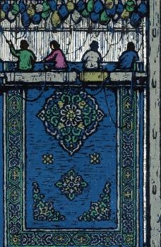织地毯图片