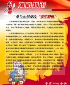 消防栓 消防知识 学校文化 海报图片