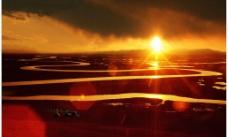 夕陽如畫图片