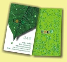 环境教育类名片样版图片