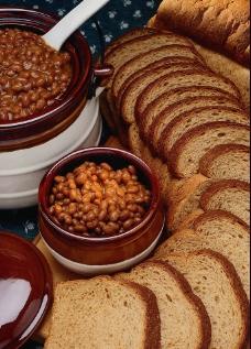 全麦面包 西餐食物图片