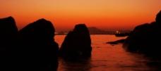 下龙湾的红霞 2图片