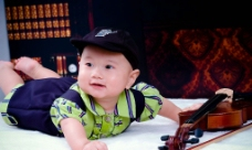 可爱半岁幼儿摄影图片