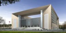 法院建筑设计效果图图片