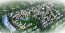 中信东泰花园二期高层住宅鸟瞰图片