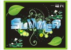 夏天立体字图片