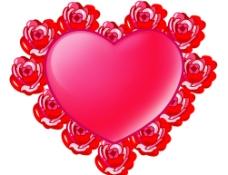 玫瑰爱心图片