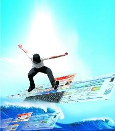 网上冲浪图片