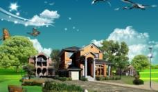 风景 别墅 房地产图片