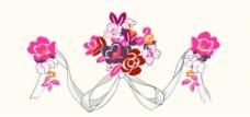 韩国PSD花纹边框饰品图片