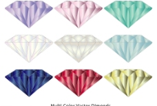 七彩发光钻石组合图片