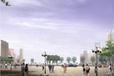 城市广场效果图图片